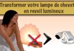 Transformer votre lampe de chevet en reveil lumineux