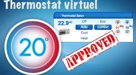 Le thermostat virtuel disponible sur le Store