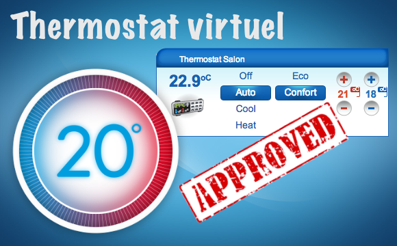 Le thermostat virtuel disponible sur le Store