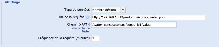 Eedomus - Compteur d'eau