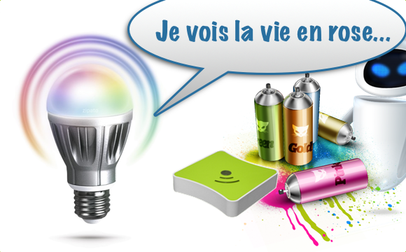 Test : Les Zipato RGBW bulbs